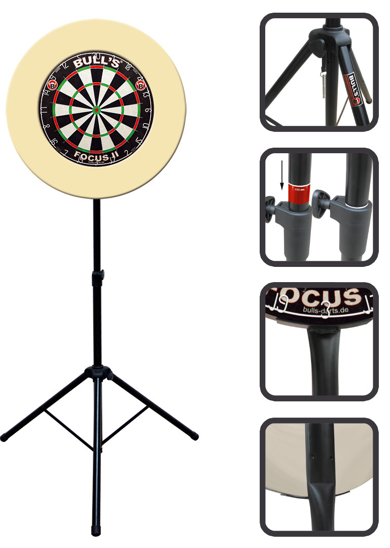 steel dartscheibe dartst nder mobiler dart board st nder stativ. Black Bedroom Furniture Sets. Home Design Ideas